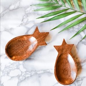 Other - Wood Pineapple Bowls/Jewelry Holders Set of 2